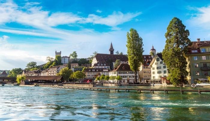 Urlaub 2017 Altstadt Luzern Fluss Reuss