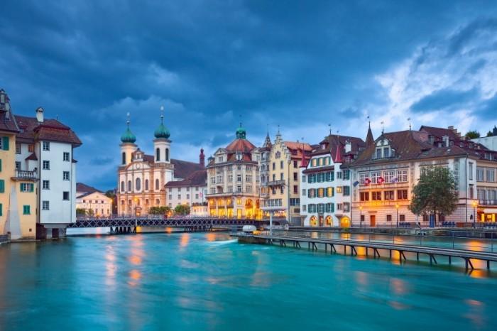 Urlaub 2017 Altstadt Luzern historische Häuser