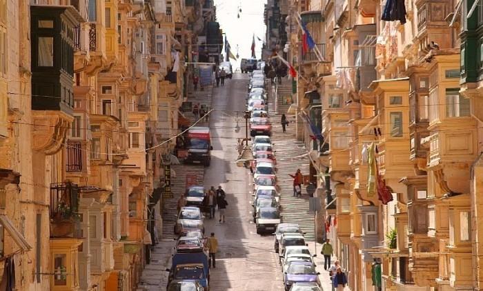 Valletta Malta Urlaub 2017 Hauptstraße