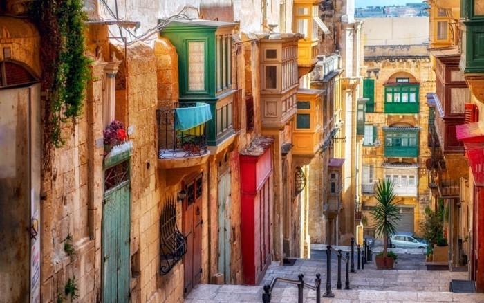 Valletta alte Häuser