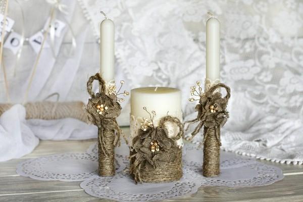 Weiß graue Kerzen selber machen