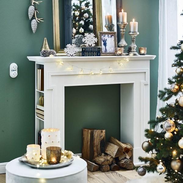 Weihnachtsbaum Kaminkonsole