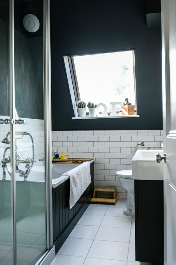 badezimmer schwarz im dachgeschoss