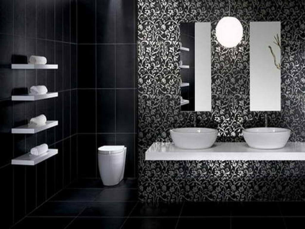 Schwarzes Badezimmer: 11 Vorteile und 110+ Ideen