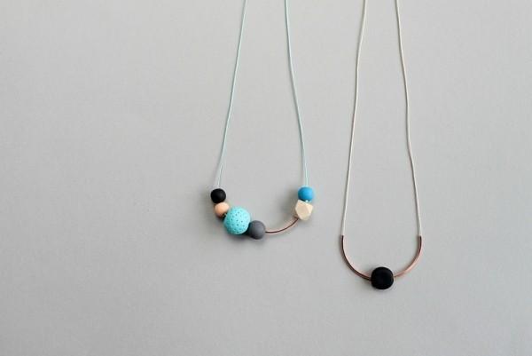 basteln mit fimo polymer clay halsketten mit perlen