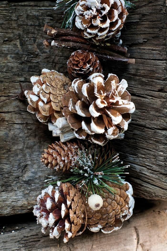 basteln mit zapfen deko ideen für weihnachten