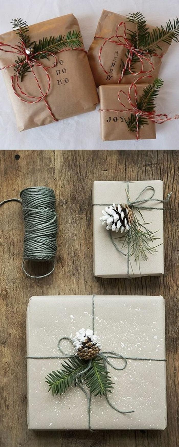 basteln mit zapfen geschenke verpacken diy ideen