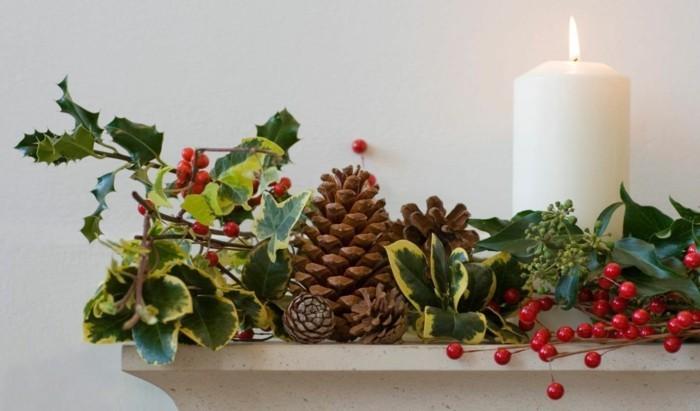basteln mit zapfen naturmaterialien deko zu weihnachten