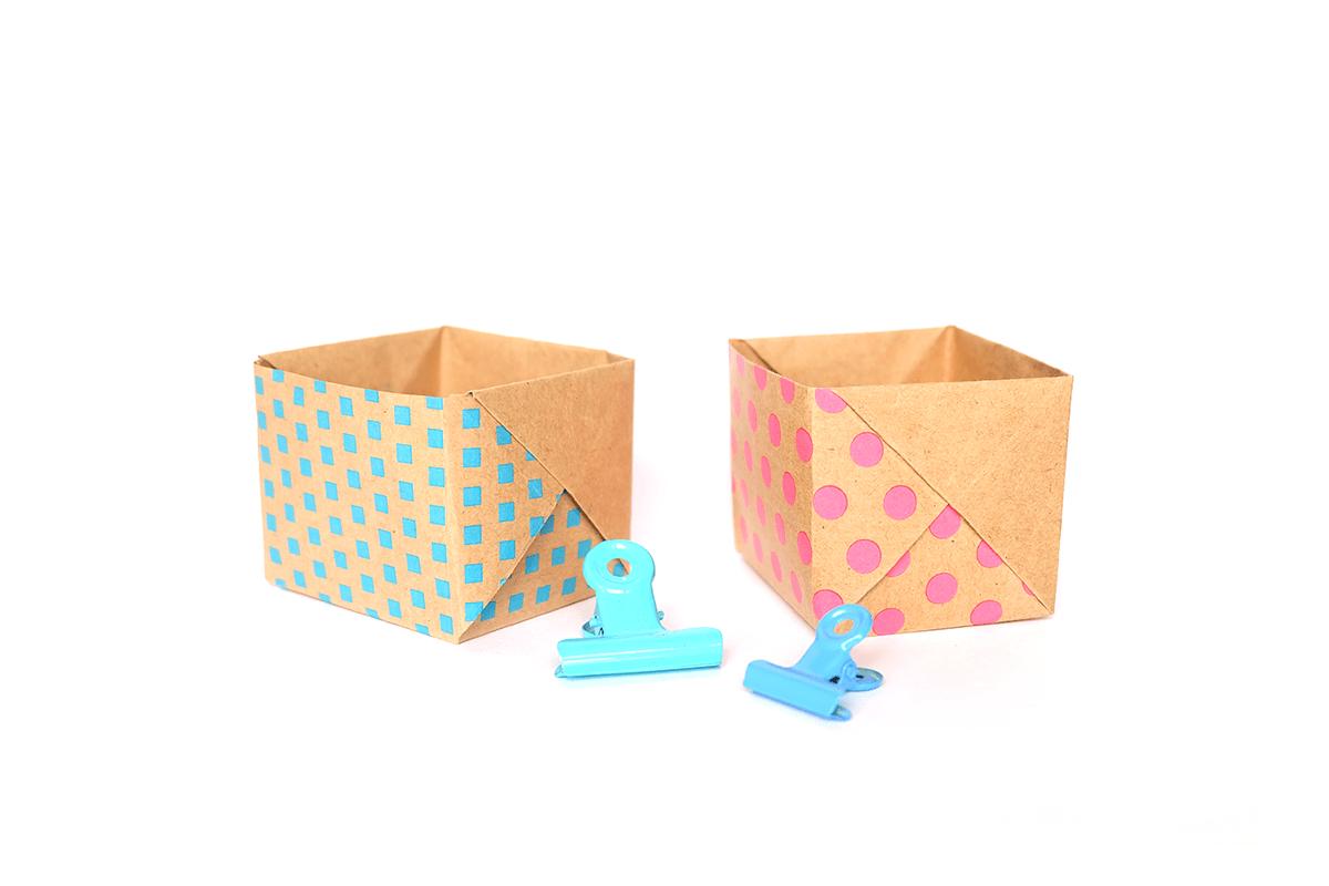 basteln mit zeitungspapier kisten aus papier