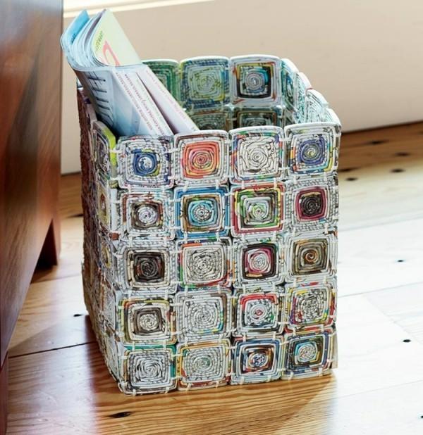 basteln mit zeitungspapier macht spa und tut der natur wohl. Black Bedroom Furniture Sets. Home Design Ideas