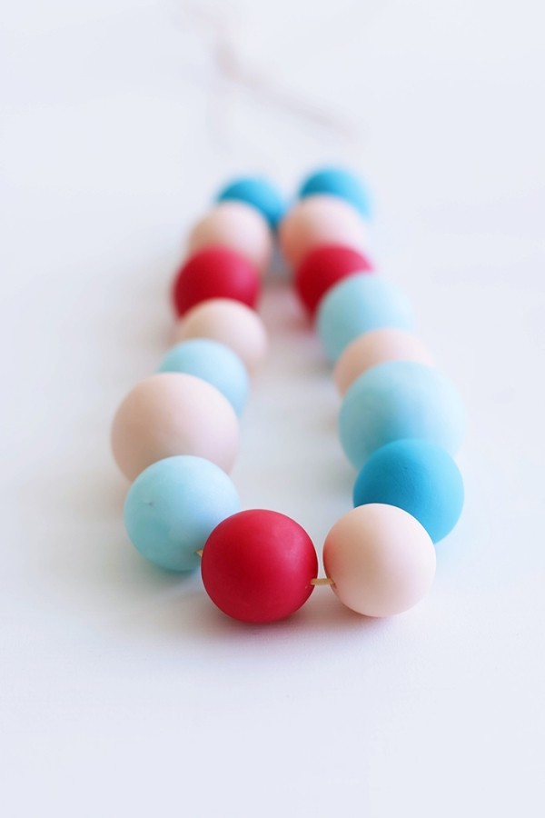 bunte perlen schmuck basteln mit fimo