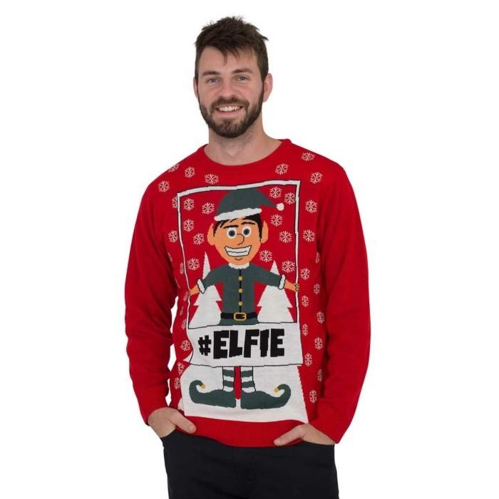 christmas sweater elfie