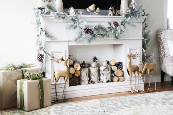 dekorieren Kaminkonsole Weihnachtsgeschenke