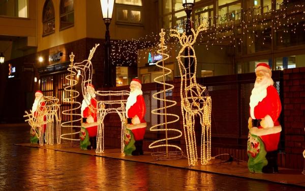 dekorieren beleuchten zu Weihnachten