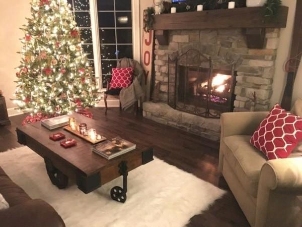 dunkler weihnachtskamin weihnachten kamin deko