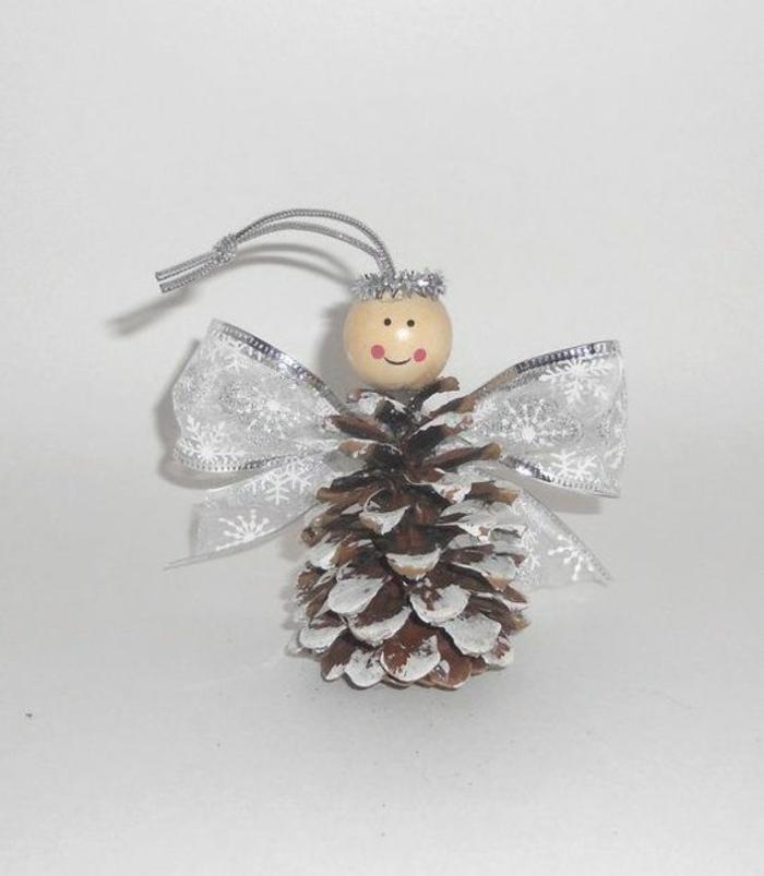 engel weihnachtsdeko selber machen basteln mit zapfen