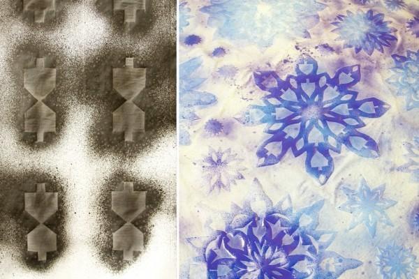 fertige tischdecken mit farbe