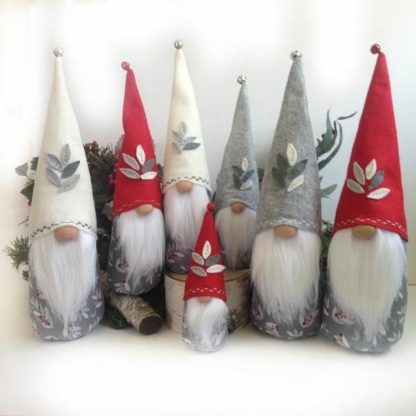 filz wichtel basteln ideen für weihnachtsdeko
