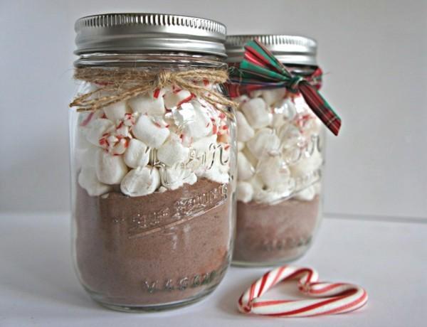geschenke aus dem glas basteln mit kindern schokolade