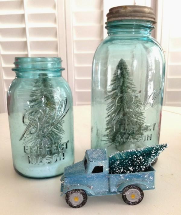 geschenke aus dem glas basteln mit kindern tolle tannenbäume