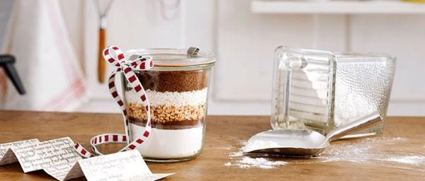 geschenke aus der küche zubereiten im glas backmischung