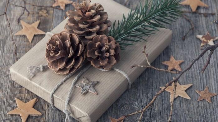 geschenkverpackung ideen basteln mit zapfen