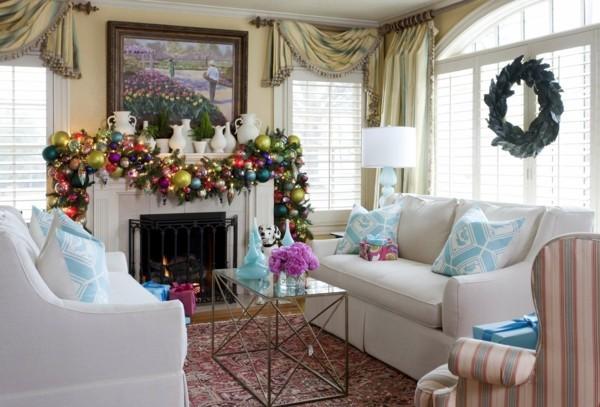 girlande weihnachtskamin weihnachten kamin deko v form