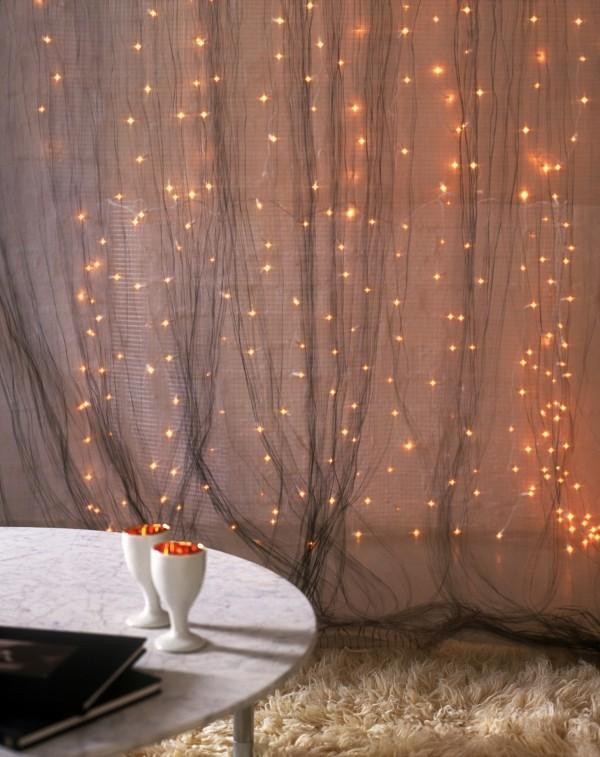 glitzert festlich Weihnachtsbeleuchtung