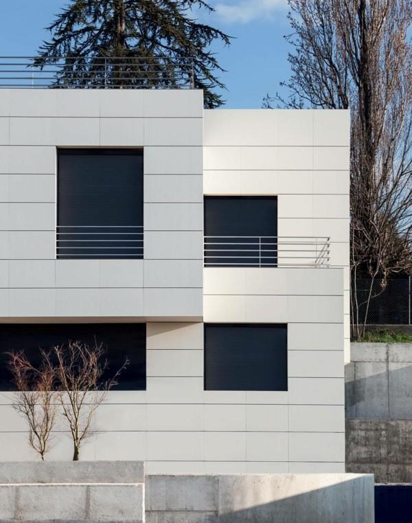 Einsatz von Granitplatten bei Fassaden moderner Häuser - Fresh Ideen ...