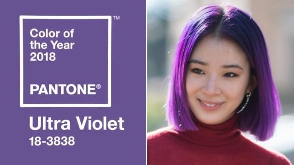 haarfarbe ultra violet pantone farbe 2018