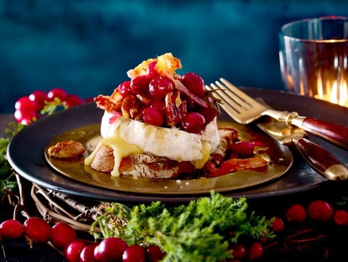 heiligabend essen rezepte camambert mit fruechten