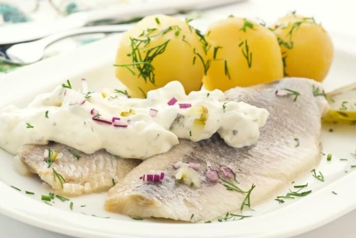 heiligabend essen rezepte herringfilet mit kartoffeln