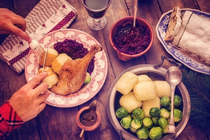 heiligabend essen rotkohl