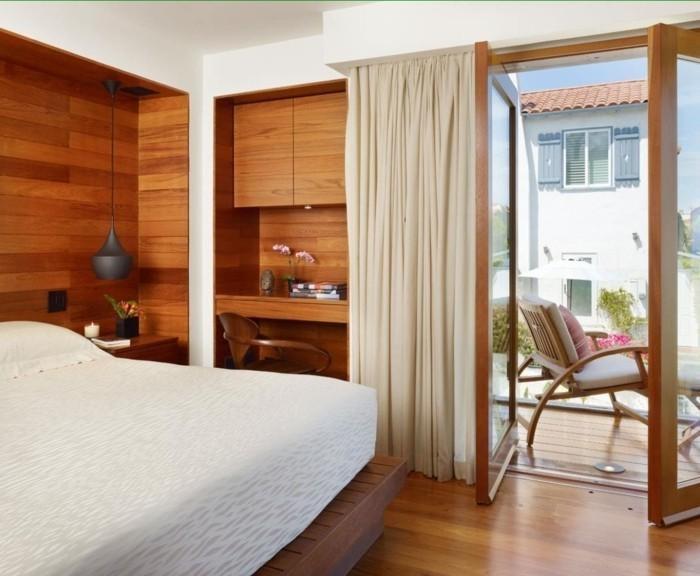 holzverkleidung kleines schlafzimmer einrichten dekorieren