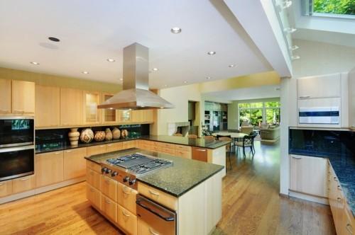 küche mit kochinsel modernes design schubladen freiraum ordnung