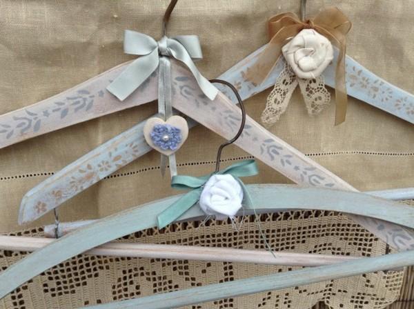 kleiderbügel dekorieren shabby chic deko selber machen