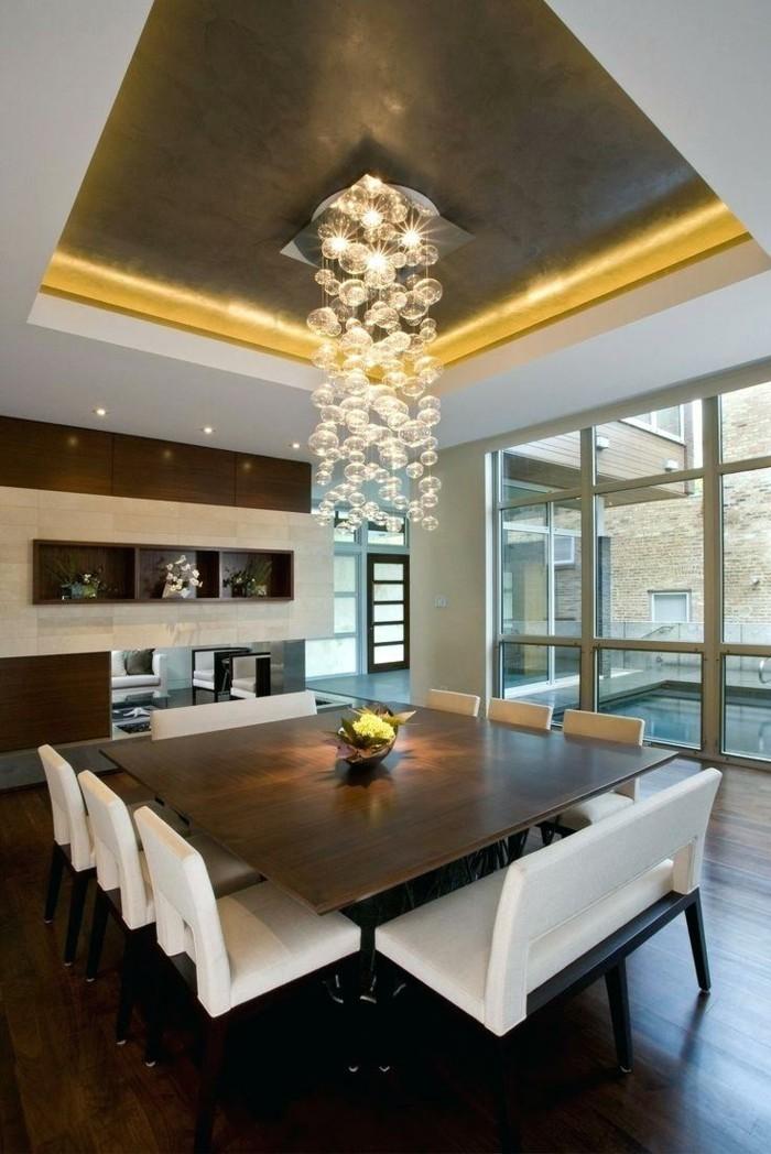 kronleuchter modern abgehängte zimmerdecke moderne beleuchtung