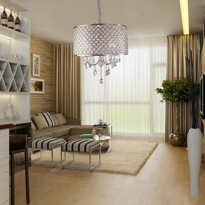 kronleuchter modern stilvolles design silberne farbe