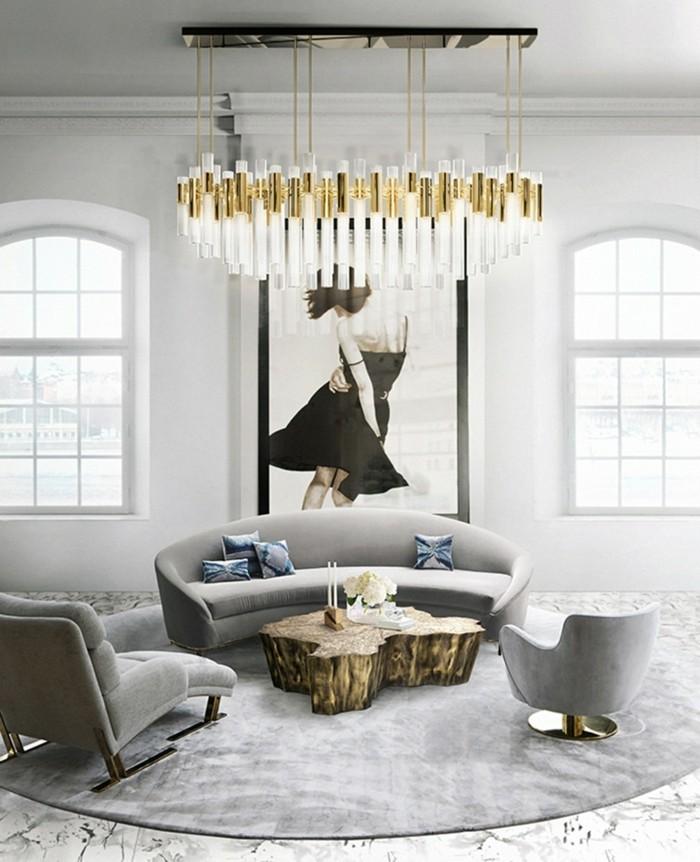 kronleuchter modern vintage stil wohnzimmer beleuchten