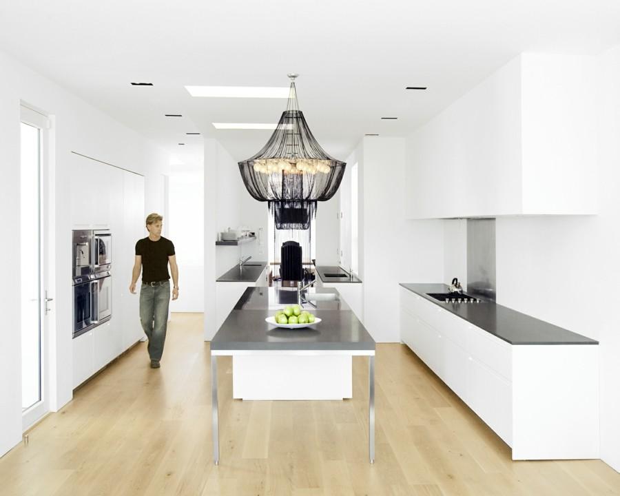 kronleuchter modern weiße küche ausgefallener leuchter