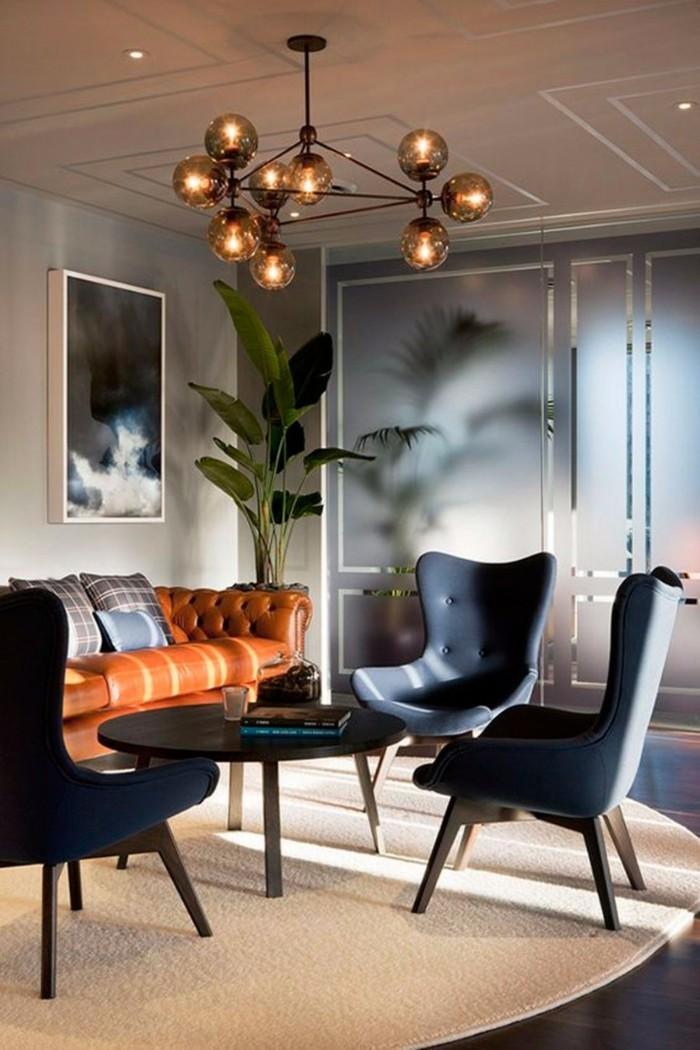 kronleuchter modern wohnzimmer einrichten retro leuchter