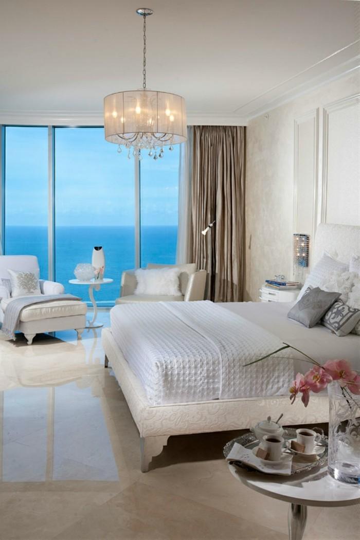 kronleuchter weiß schlafzimmer beleuchtung
