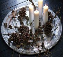 Last-Minute Adventskranz selber machen, ganz schnell und einfach!
