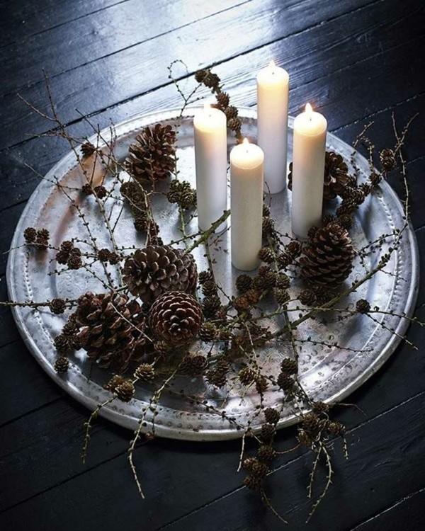 Teller fur kerzen adventskranz