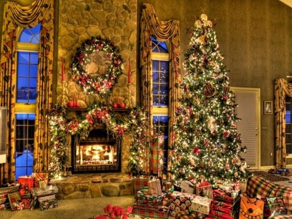 märchenhafter weihnachtskamin weihnachten kamin deko prachtvoll