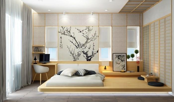 minimalistisch wohnen behagliches schlafzimmer natrliches flair