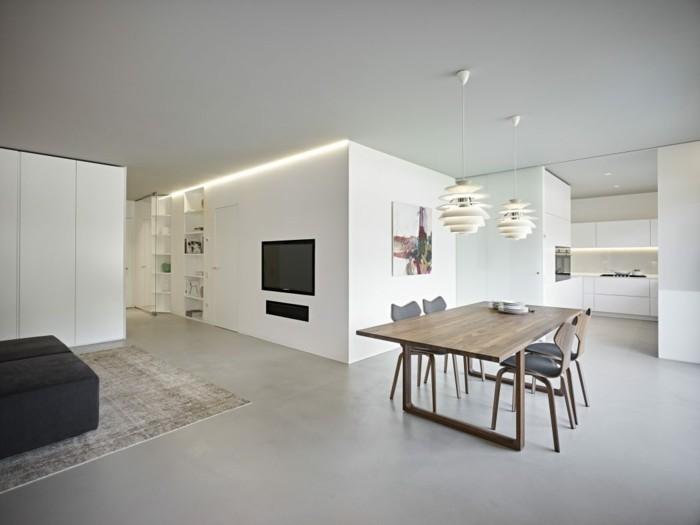 minimalistisch wohnen minimalistische wohnung funktionalität ordnung