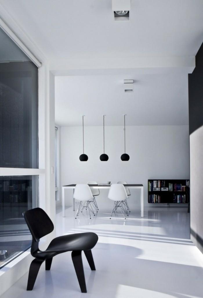 minimalistisch wohnen minimalistische wohnung schwarz weiß