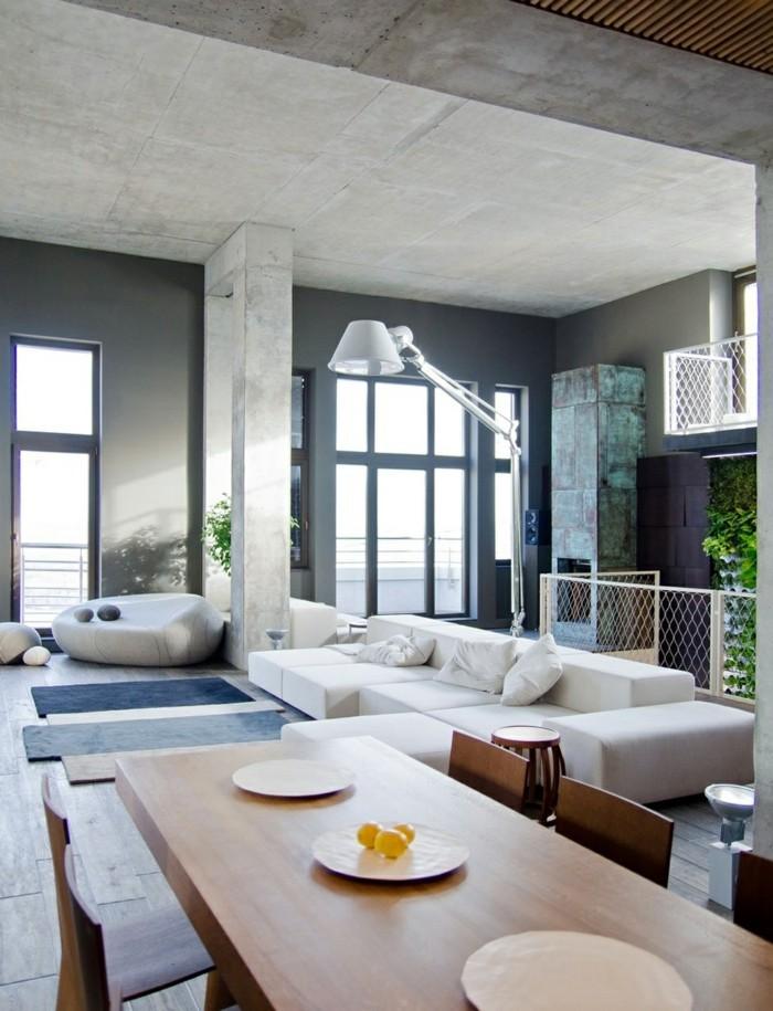 minimalistisch wohnen minimalistsicher offener wohnplan