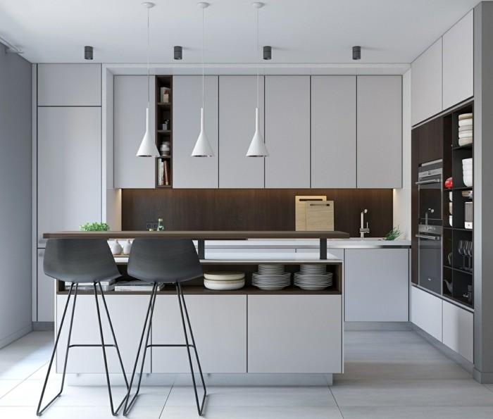 minimalistisch wohnen moderne kleine küche